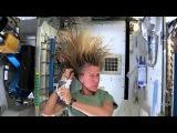 Техника мытья волос на орбите. в невесомости