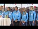 Пресс-конференция в Осло с участием команд по лыжным гонкам.