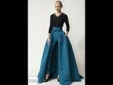 Необычное сочетание платья с брюками. Вдохновение