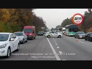 Видео с места смертельного ДТП, где погибла юмористка Поплавская