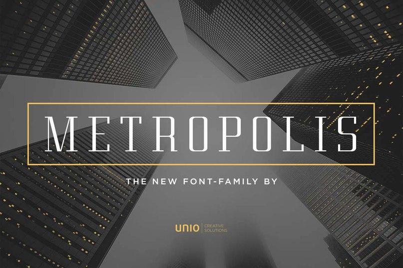 шрифт Metropolis Font - UnioCs