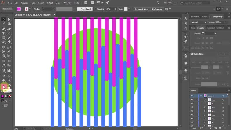 [3][083.00 F 166.00] how to draw a 2 toned circle in adobe illustrator