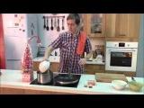 Свинина пряная с паприкой и кунжутным маслом и чечевица с перцем и лук пореем