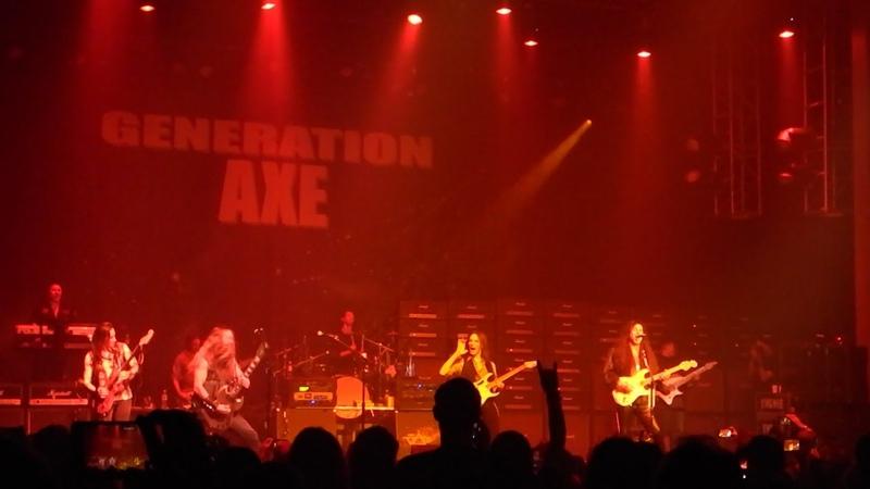 GENERATION AXE LIVE 11 8 2018 THE JAM STIVE ZAKK NUNO INGWIE TOSIN