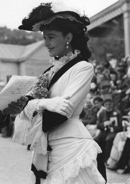 Вивьен Ли на съемках «Анны Карениной». Великобритания. 1948 г.