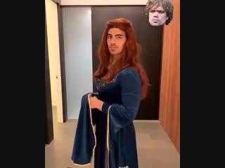 Joe Jonas dressed as Sansa Stark