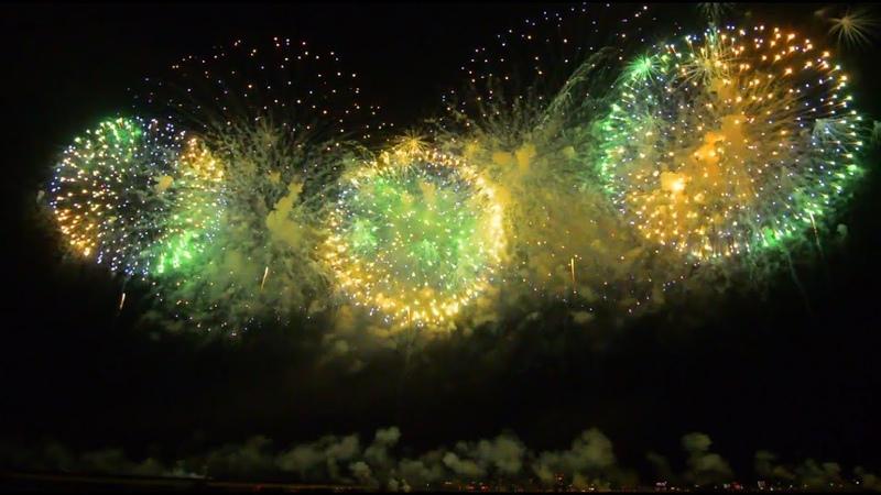 長岡花火 2018 尺玉100連発空を見上げてごらん 100× 12inch shells 8月2日 Nagaoka Fireworks 2018 Japan Niigata Pref.