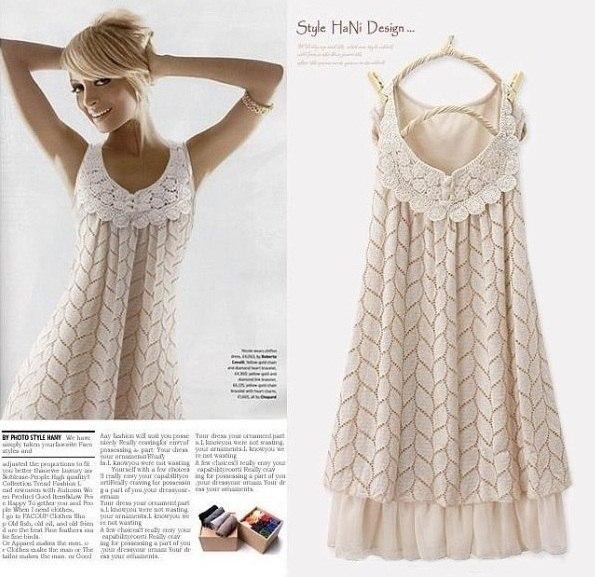 Нежное платье крючком (6 фото) - картинка