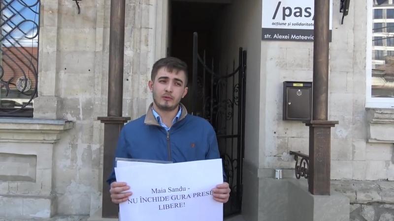 Flashmob Maia Sandu Nu închide gura presei libere