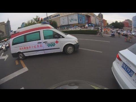 Late peak Urgent escort for Red Cross Ambulance, in traffic jam