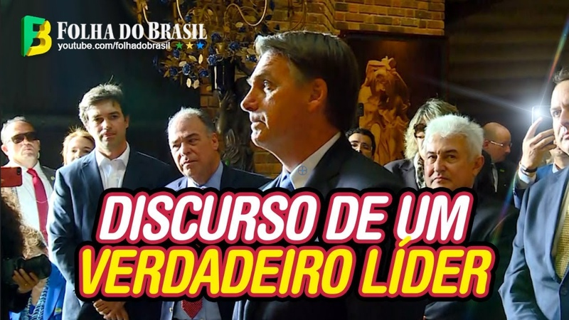 Bolsonaro faz discurso impactante sobre superação, após apresentação musical no Recife! 24/05/2019