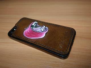 Накладка на бампер для айфона. скстиль. молодильное яблочко)))