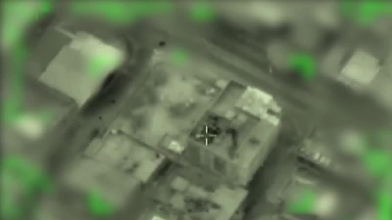 Армия обороны Израиля показала на видео, как разбомбила разведку ХАМАС рядом с палестинской школой