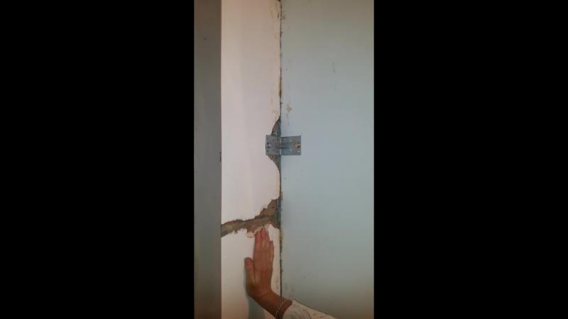 Шатающаяся стена во 2 ом подъезде