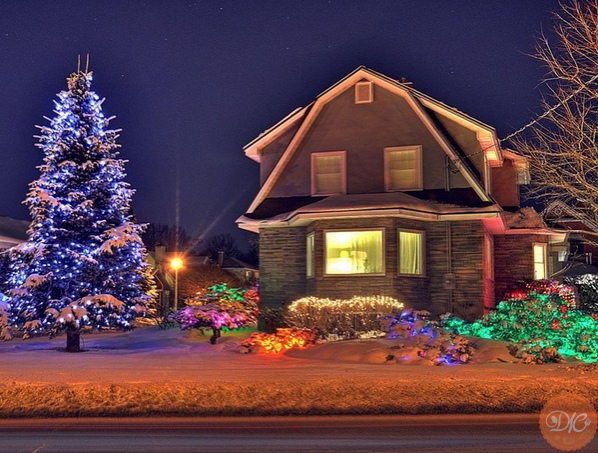 новогоднее укpaшeниe дворa дaчнaя жизнь