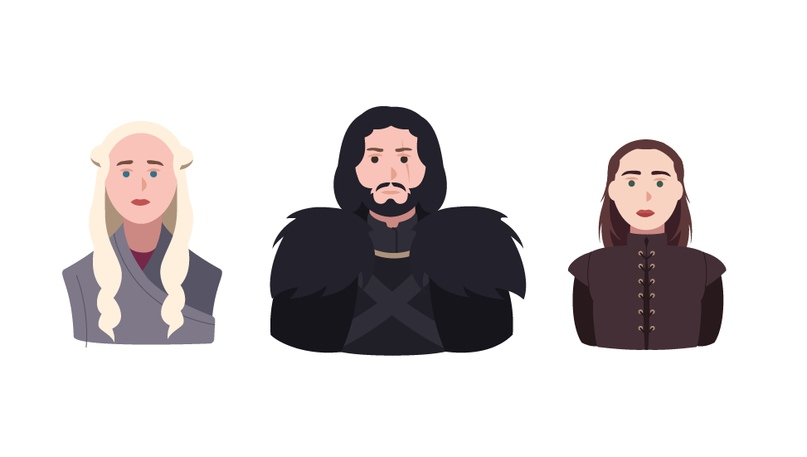 Дейнерис и Джон Сноу возглавили топ персонажей «Игры Престолов» от Google