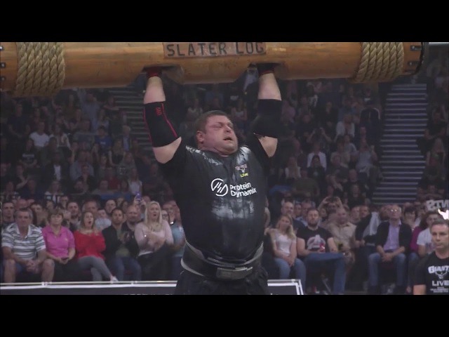 Zydrunas Savickas 150kg x 8 log press at Giants Live 2017