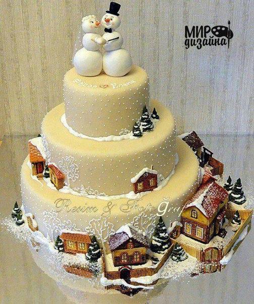 Зимний тортик (1 фото) - картинка