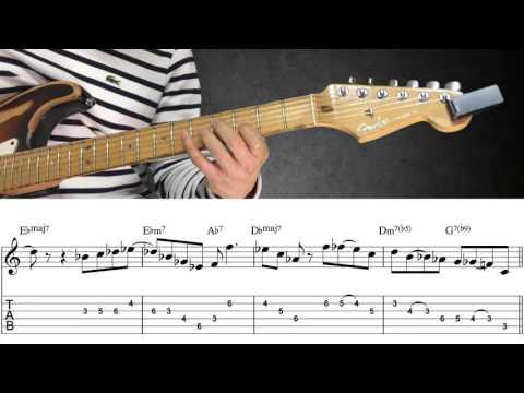 재즈 기타 레슨 ] 팻 메스니(Pat Metheny) - Solar transcription