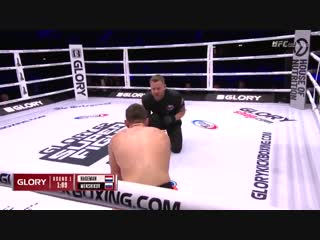 #GLORY62 Results: Dmitrii Menshikov def. Robbie Hageman by TKO (punches). Round 1, 1:53