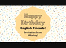 Nikolay's invitation to English Friends' Birthday Party 2018!