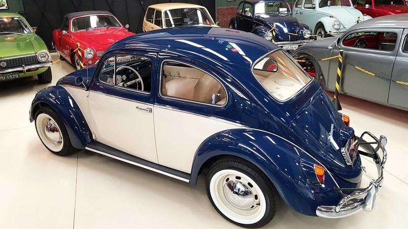 Restauração do Fusca Azul e Bege 1968- MARAVILHOSO! - Trocar Autos Antigos