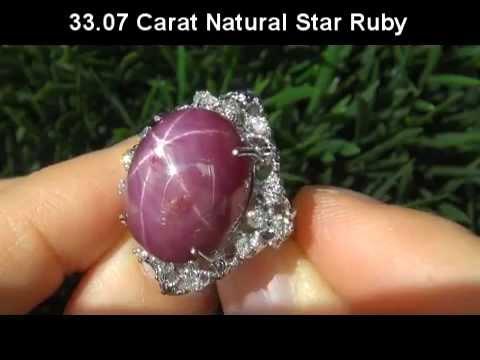 Unique ESTATE 33.67 Carat Star Ruby Diamond Ring set in Solid 14K Gold