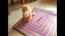 Полосатый коврик крючком Striped rug crochet