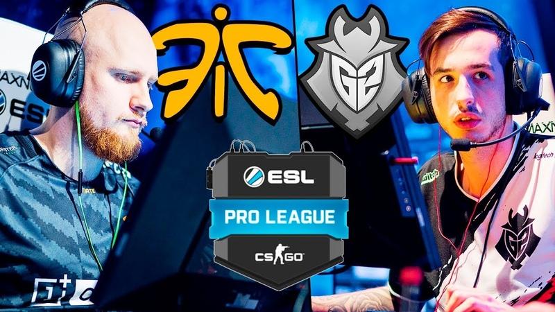 G2 vs Fnatic - ESL Pro League - BEST MOMENTS Map 1   CSGO