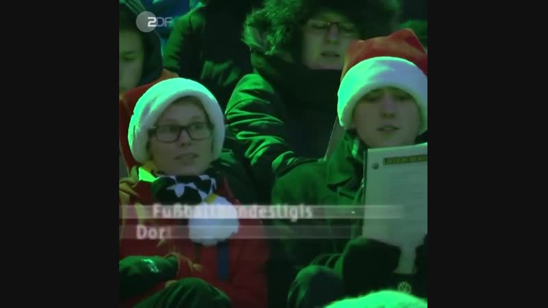 Адвент на стадионе Дортмундской Боруссии