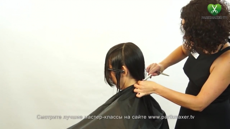 Как стричь волосы средней длины How to cut middle hair парикмахер тв parikmaxer.