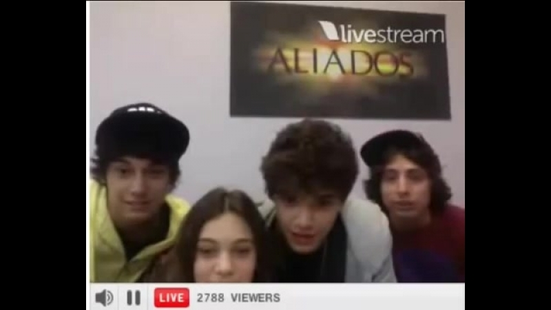 Twitcam Aliados 26 nov (Agus, Caro, Julian y Maxi)