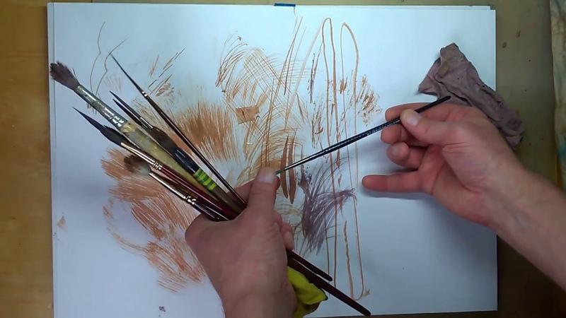 Кисти для рисования ветвей деревьев и не только