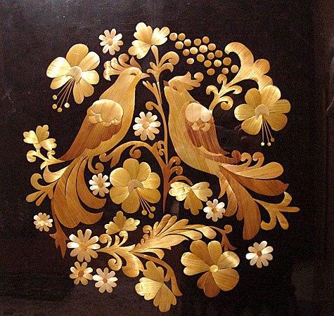 Картины из соломки пошагово