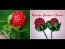 26 - Fruta miçangas-Folhas de Cetim. DIY - Satin Flower/Fiore di Raso /kanzashi /Satin-Blume/サテン花