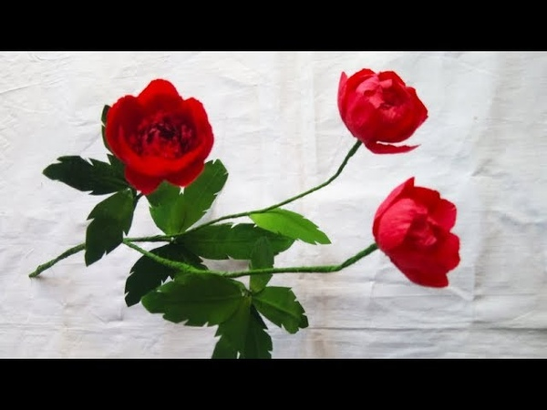 How to make Wild Red Peony Globe paper Flower | origami paper craft | Paper Flowers Pro Diy