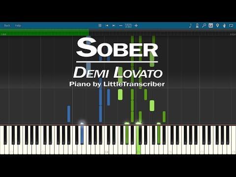 Demi Lovato - Sober (Piano Cover) Synthesia Tutorial by LittleTranscriber