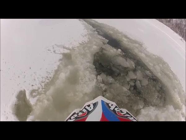Мотоцикл ушёл под лёд