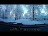 Очень красивый зимний день из окна автомобиля. Ленинградская область. Гостилицы. 19 января 2014 года