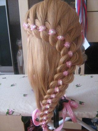 Плетение кос солнцево