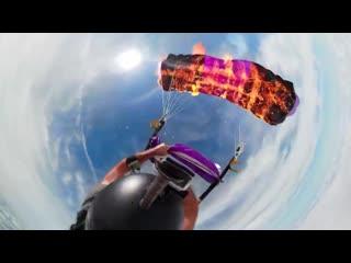 Fusion parachute burn