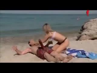 СЕКС на пляже,скрытая камера