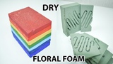 Dry Rainbow Colored Floral Foam Cutting ASMR to help you sleepget relaxedrelieve stress