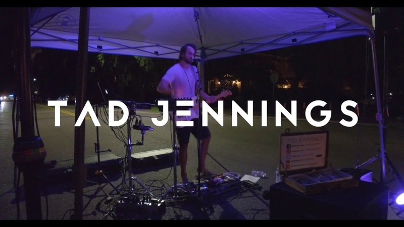 TAD JENNINGS - Gangstas paradise - Beatbox Guitar Loop Pedal