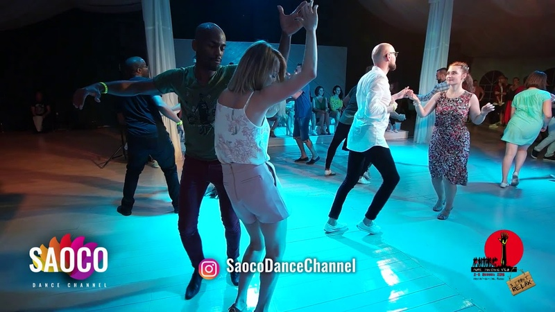 Didier Lobeau and Aleksandra Anisimova Salsa Dancing in Malibu at The Third Front 2018, Sat 04.08.18