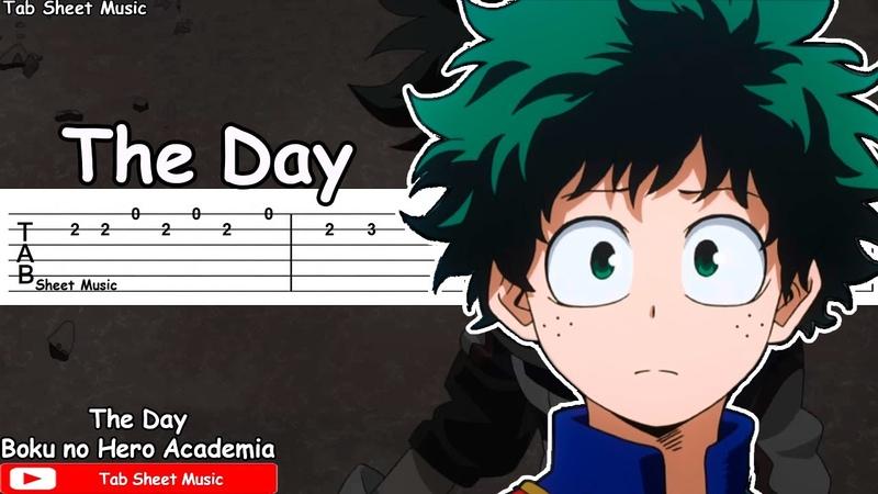 Boku no Hero Academia OP 1 The Day Guitar Tutorial