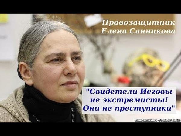 Правозащитник Елена Санникова В защиту Свидетелей Иеговы в России
