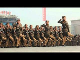 Военный парад в Северной Корее (Slow Motion-Canon 60D)