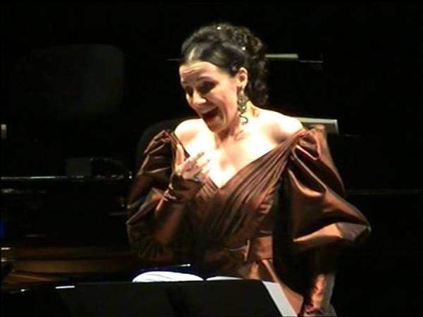 Anna Bonitatibus sings Isabella Colbran Canzonetta: Parto vi lascio addio