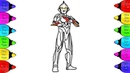 Ultraman Nexus Coloring Pages | How to Color Ultraman Coloring Book for kids| Ultraman Nexus